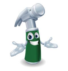 hammer cartoon mascot vector image