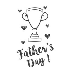 Hand draw design father day celebration vector