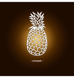 Image Pineapple in the Contours vector image