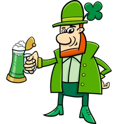 leprechaun cartoon character vector image vector image