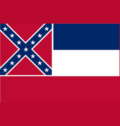 mississippi state flag vector image