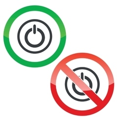 Power permission signs vector