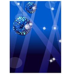 Shiny disco ball nightclub vector image