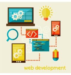 web development vector image vector image