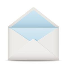 White open envelope vector image vector image