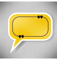 Yellow Speech Bubble vector image vector image