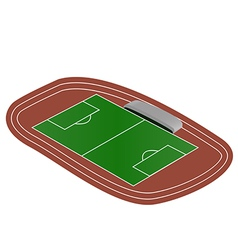 Mini soccer field vector