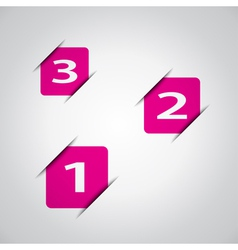 Pink squares business design vector image