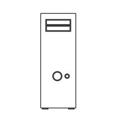 Computer case or system unit black color icon vector