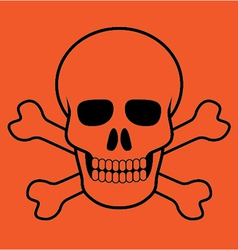 Scull and bones vector