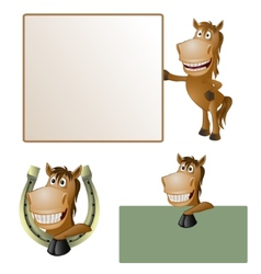 Funny horse vector