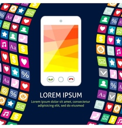 Smartphone with icons poster vector image