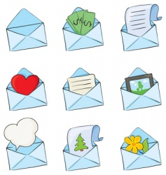 Funny envelopes vector