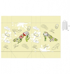decorative bag vector image