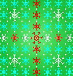 Create snowflake on green pattern background vector