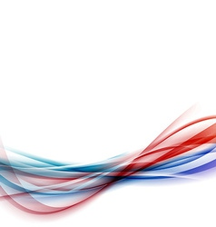 Blue red swoosh speed vivid line fusion vector
