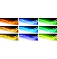 Abstract wavy background design vector