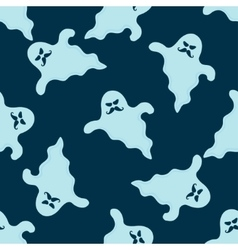 Funny ghost seamless pattern vector