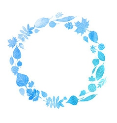 Round frame with watercolor vector