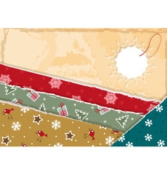 Retro christmas wrapping paper background vector