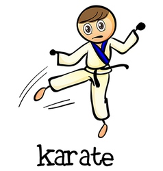 A stickman doing karate vector image