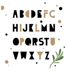 Abstract geometry alphabet Hipster vector image