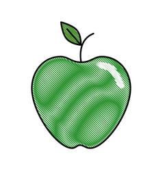 Apple fruit food vector