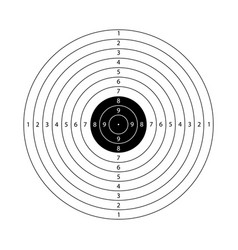 blank template for sport target shooting vector image