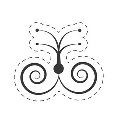 decoration ornament element swirl vector image