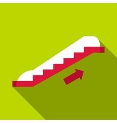 Escalator icon flat style vector