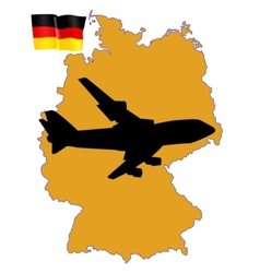 fly me to the Germany vector image vector image