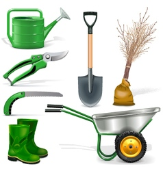 Garden Icons Set 1 vector image vector image