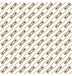 Golden line pattern on white background vector image