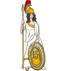 Greek goddess athena cartoon vector