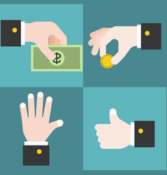 hand collections set 2 vector image