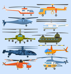 helicopter air transport propeller aerial vehicle vector image vector image