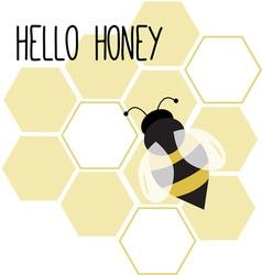 Hello honey vector