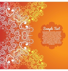 Invitation card with abstract flower background vector image