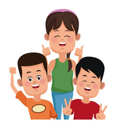 kids friends cartoon vector image vector image