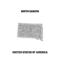 Label with map of south dakota vector image vector image