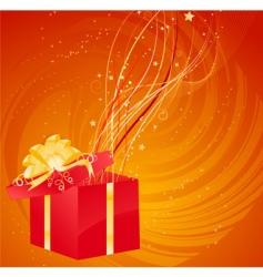 magic Christmas gift vector image vector image