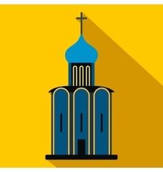 Orthodox church flat icon vector