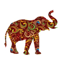 Red elephant ornamental vector