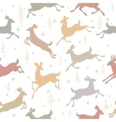 seamless background deer vector image