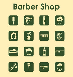 set of barbershop simple icons vector image