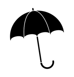 silhouette umbrella accessory vector image