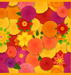 Spring floral seamless pattern background vector