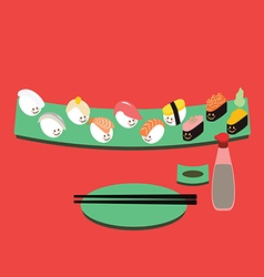Sushi cartoon vector