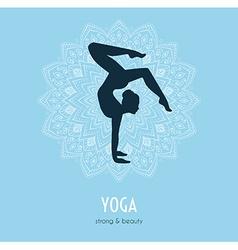 Woman doing yoga asanas vector image