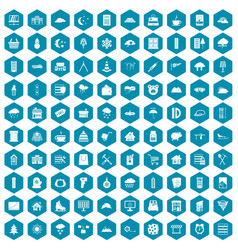 100 windows icons sapphirine violet vector image